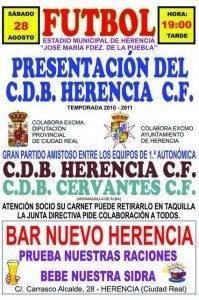 Presentación Oficial de C. B. D. Herencia C. F. 3