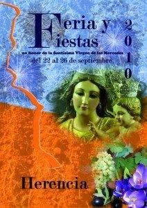 Cartel Ferias y Fiestas Herencia 2010 212x300 - Las Fiestas de La Merced traerán consigo la nueva imagen turística y un gran festival taurino