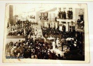 Ofertorio del Carnaval de Herencia en el Franquismo