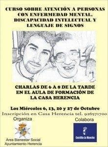 Cartel curso enfermedad mental y discapacidad1 221x300 - Curso sobre atención a personas con enefermedad mental