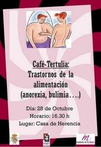 Cartel tertulia anorexia y bulimia