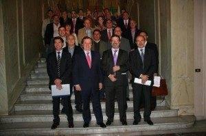 firma convenio obras hidraulicas 300x199 - Firmado convenio de aguas pluviales entre Junta, Diputación y Ayuntamiento