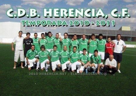 herencia CF 2010 11 465x328 - El C. D. B. Herencia C. F. lidera su grupo de Primera Autonómica