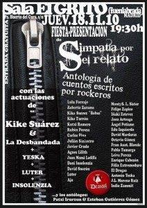 """Fuenlabrada 18 Nov 2010 SIMPATIA POR EL RELATO 212x300 - Concierto-Presentación libro """"Simpatía por el relato"""""""
