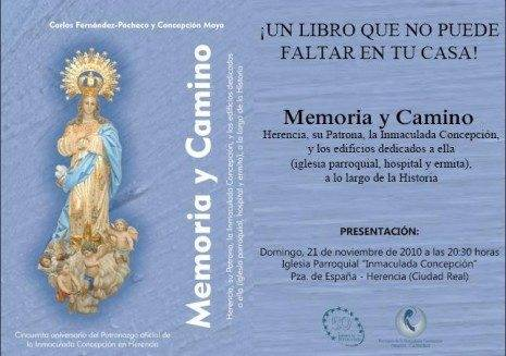 invitacion_libro_memori_y_camino_parroquia_Herencia_Ciudad_Real