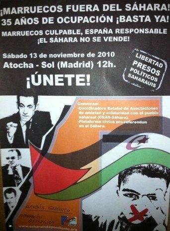 manifestacion pro saharaui 2010