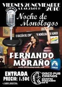 monologo friends herencia fernando moraño
