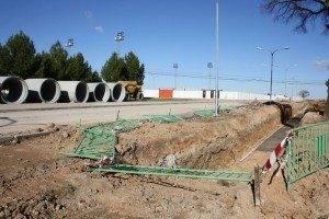 herencia colector pluviales d 300x200 - Iniciadas las obras del colector de aguas pluviales de Herencia