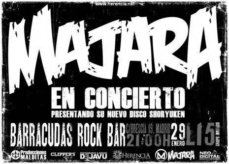 Cartel Concierto Majara en Madrid 465x334 - Majara tocará este sábado en Madrid