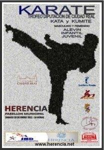 Cartel Trofeo Diputacion de K%C3%A1rate en Herencia 208x300 - Herencia acogerá el Trofeo Diputación de Kárate