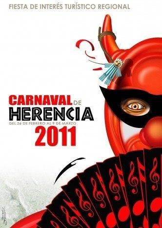 Cartel Carnaval de Herencia 2011. El diablo burlón