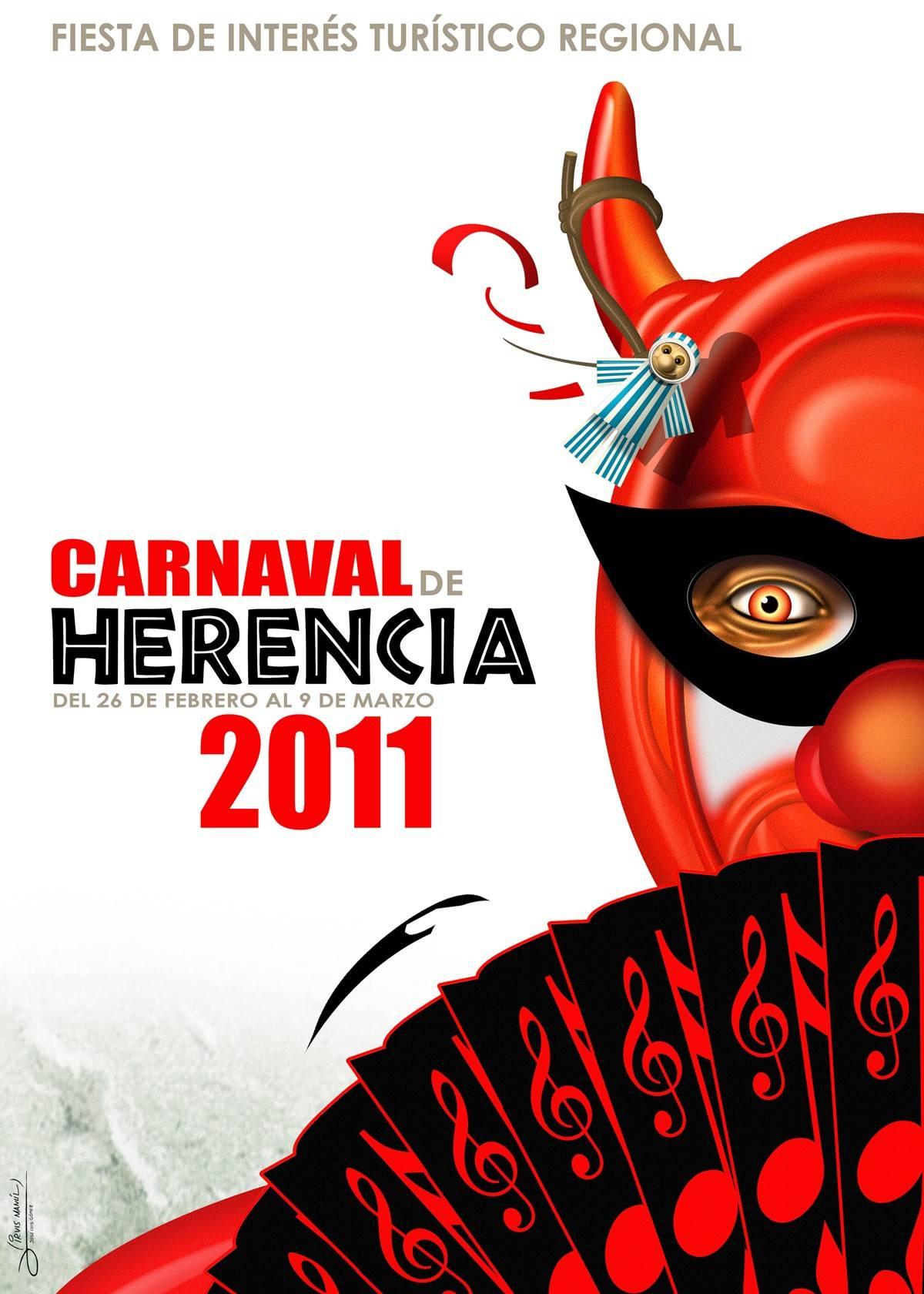 cartel carnaval de herencia 2011 - Diablo burlón la nueva imagen para el Carnaval de Herencia 2011