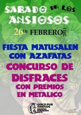 CARTEL ANSIOSOS FRIENDS 329x465 - Concurso de disfraces en Disco Pub Friends