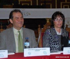 """Carlos Fdez y Concepción Moya 300x252 - Los autores del libro """"Memoria y Camino"""" serán los pregoneros de la Semana Santa 2011"""
