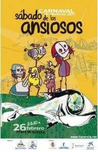 carnaval de herenciaL sabado ansiosos 2011 193x300 - Felicia Riaza es la autora del Cartel del Sábado de los Ansiosos 2011