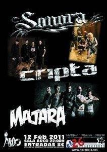 Majara actuará junto a Sonora y Cripta este sábado 3