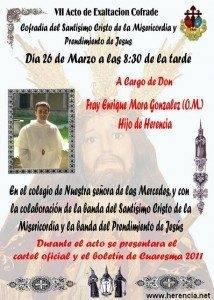 Cartel VII Exaltacion Cofrade Cristo de la Misericordia 2011