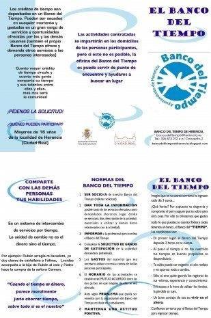 TRIPTICO EL BANCO DEL TIEMPO 2011 309x465 - Vuelve el Banco de Tiempo