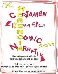 cartel X certamen literario herencia