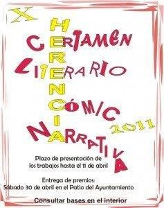 """cartel X certamen literario herencia 237x300 - Bases X Certamen Literario B.P.M """"Miguel de Cervantes y Programa Alcazul."""