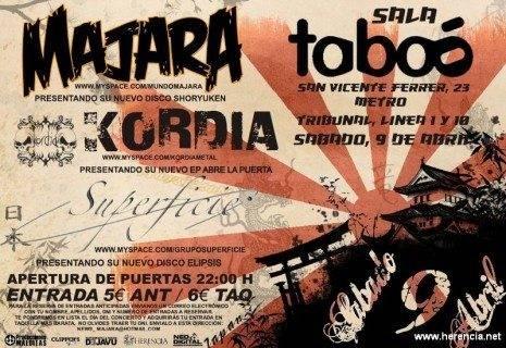 concierto Majara Abril 2011 465x320 - Majara actuará el día 9 de abril en la Sala Taboo de Madrid