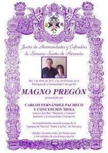 pregon semana santa herencia 2011 212x300 - El domingo tendrá lugar el Pregón Oficial de la Semana Santa de Herencia