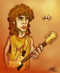 Jesús Cobos participa en el concurso Retratos Rocanroleros con un dibujo del cantante de Yeska 1