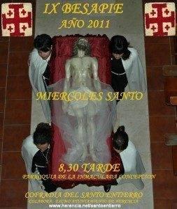 Acto Cofrade y Besapie de la Cofradía del Santo Entierro de Herencia 1