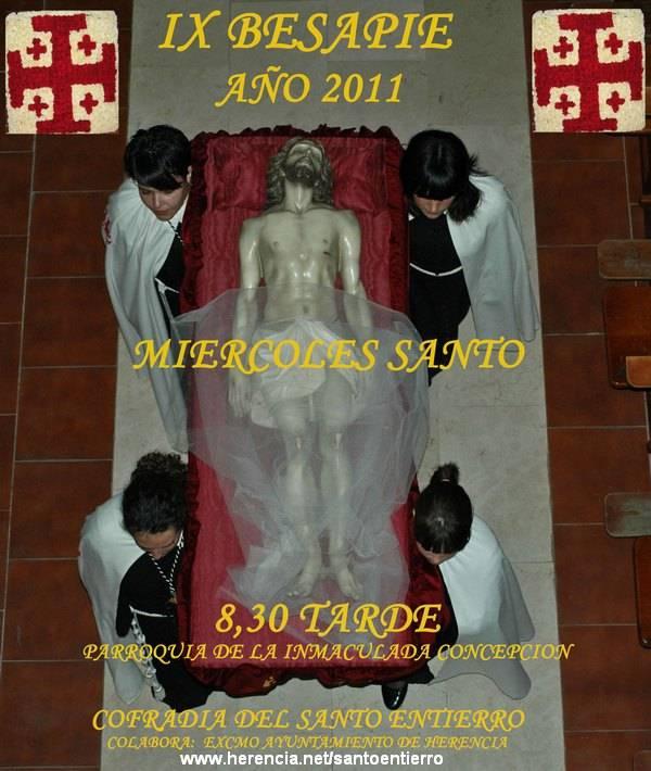 Cartel Cofradia Santo Entierro de Herencia 2011 - Imágenes del Santo Entierro