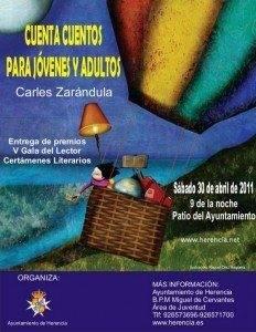 Carles Zarándula contará cuentos en la V Gala del Lector 1