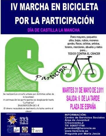 La IV Marcha por la Participación en Bicicleta tendrá lugar el día de Castilla-La Mancha 1