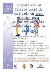 Consejo Local de Igualdad busca dibujos para ilustrar su Guía de Juguetes 1