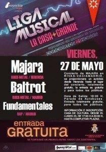 Liga Musical Rivas Majara 210x300 - El Área de Cultura pone un autobús para apoyar a Majara en la Liga Musical