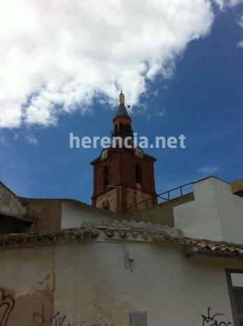 Cigüeña queda enganchada en el pararrayos de la iglesia 14