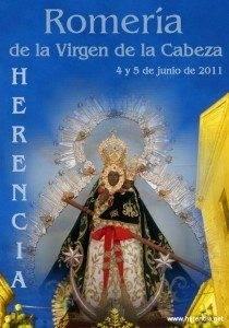 Cartel Romería Virgen Cabeza de Herencia 2011