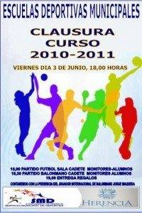 Clausura de la Escuelas Deportivas de Herencia 1