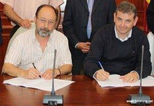 Comsermancha firma contrato Planta Residuos Construcción de Herencia