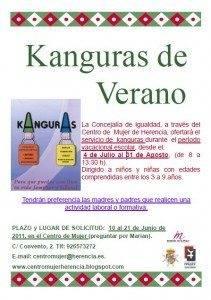Cartel Servicio de Kanguras. Verano 2011