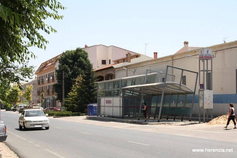 herencia parada de autobuses en obras - Continúan las obras del traslado de la parada de autobuses