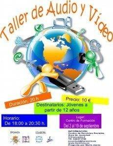 Taller audio y vídeo 231x300 - Taller de Audio y Vídeo para jóvenes