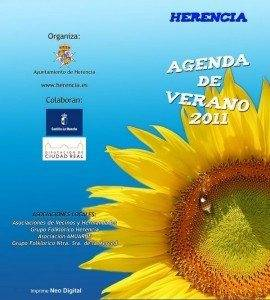 cartel folleto verano agenda herencia
