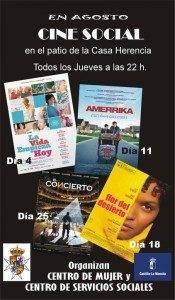 Cine Social para los jueves de agosto 1