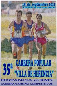 El día 18 de septiembre tendrá lugar la XXXV Carrera Popular Villa de Herencia 6