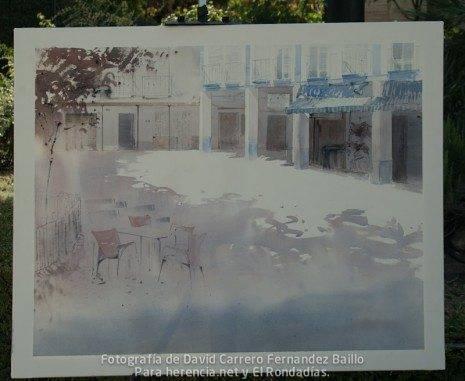 1 premio V certamen pintura rapida jose higueras de Herencia Ciudad Real.jpg 465x381 - Fallo del V Certamen de Pintura Rápida 2011