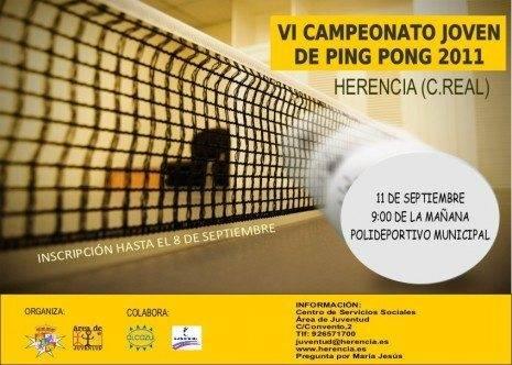 Campeonato de ping pong  Herencia 2011