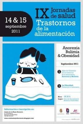 IX jornadas de la salud Herencia - IX Jornadas de Salud: Trastornos de la alimentación: Anorexia, Bulimia y Obesidad