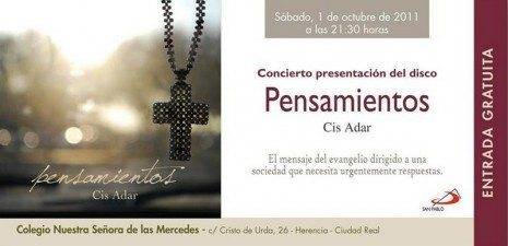 El grupo de música religiosa Cis Adar presentará su primer disco el 1 de octubre 2