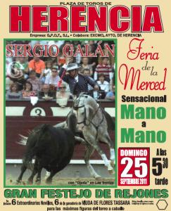 corrida de rejones en Herencia - Ferias 2011