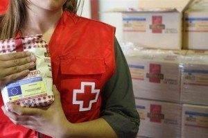 reparto de alimentos de cruz roja Herencia