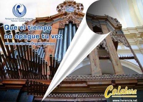 Campaña de restauración del órgano parroquial de Herencia 465x332 - Colabora con los cursos de pintura para recuperar un tubo del órgano parroquial